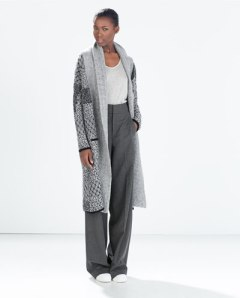 Zara Jacquard Coat with Pockets $90.30 from $129
